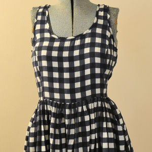 Forever 21 Black & White Check Dress Small
